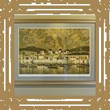 笹倉鉄平画伯の「スターアトラス南星図」。受付壁面に飾られています。/みやび矯正歯科医院